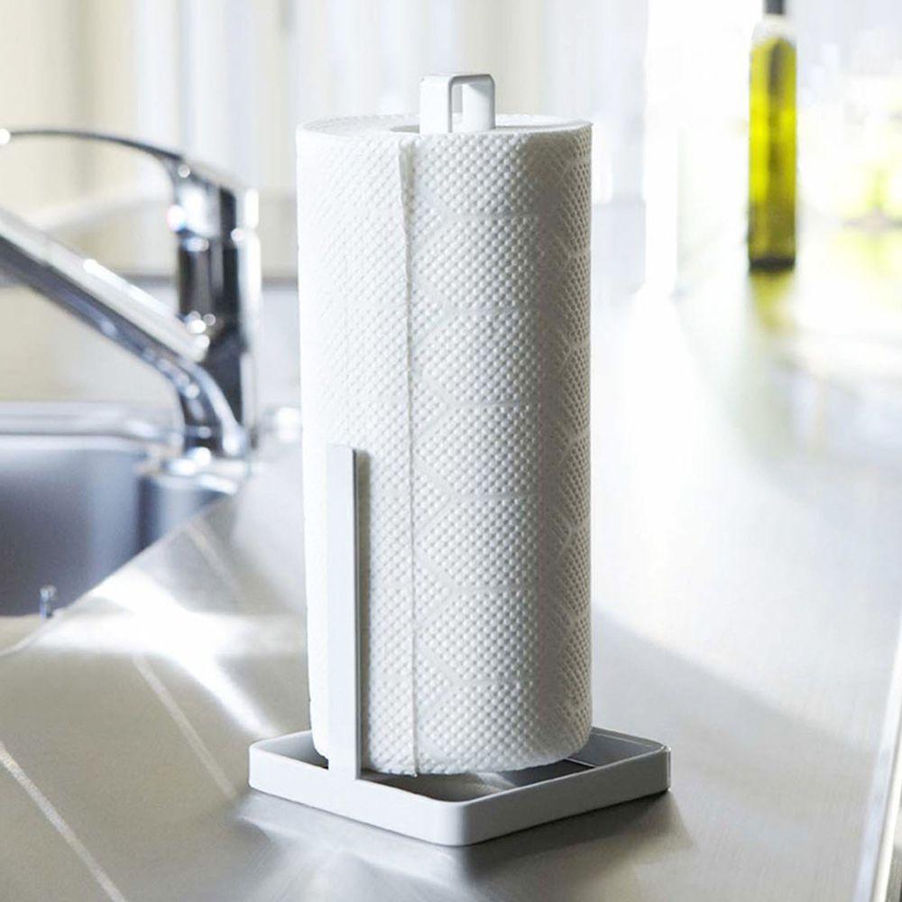 廚房家用捲紙置物架-白色