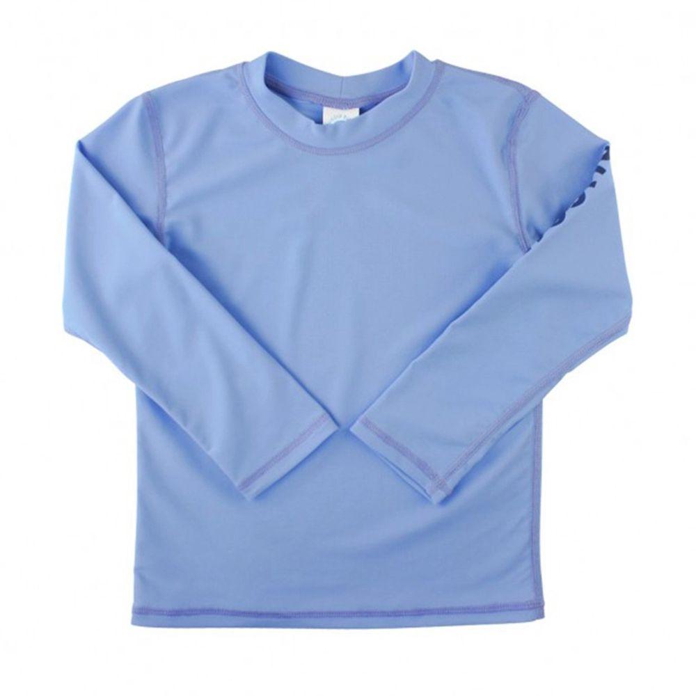 美國 RuffleButts - 小男童UPF 50+防曬長袖泳衣-天空藍
