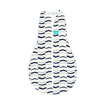ergoCocoon二合一舒眠包巾-竹纖維-千層藍