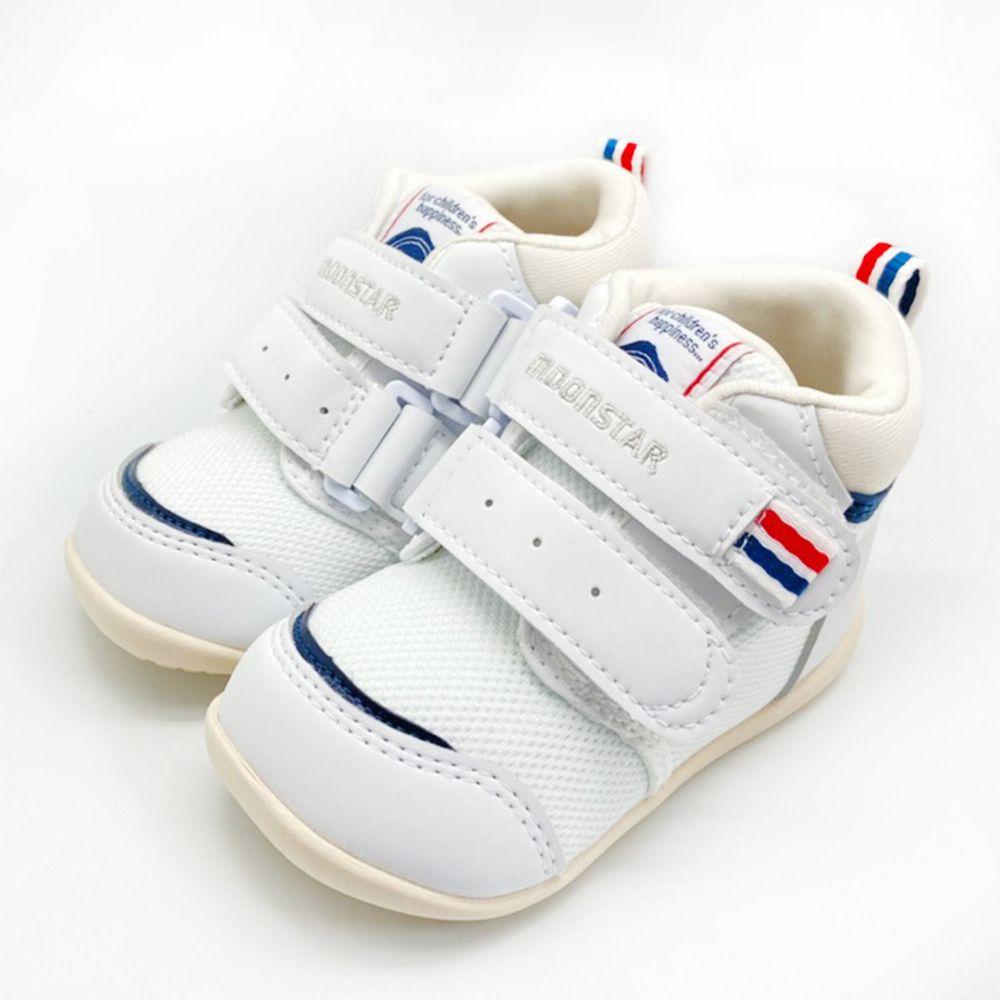 Moonstar日本月星 - 護踝機能學步鞋(寶寶段)-白