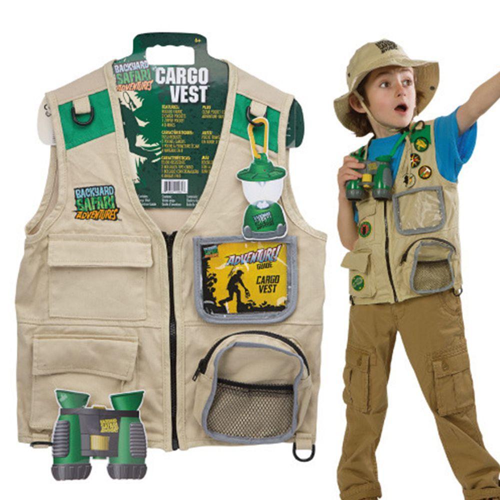 美國 Backyard Safari - 小小探險家-山野背心(卡其款)(六歲以上)