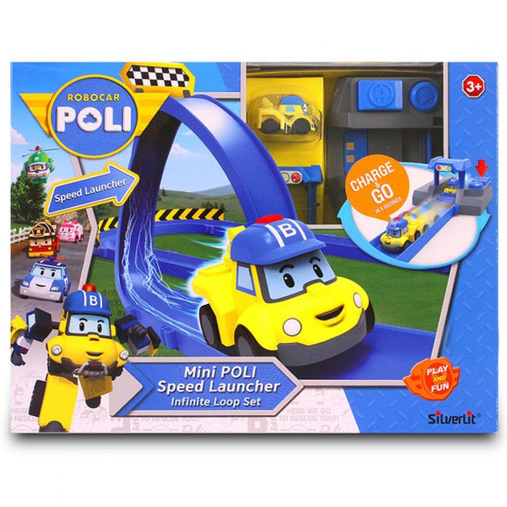 POLI 波力 - 迷你波力特技軌道系列-無限彎圈組-附迷你巴奇充電車1台