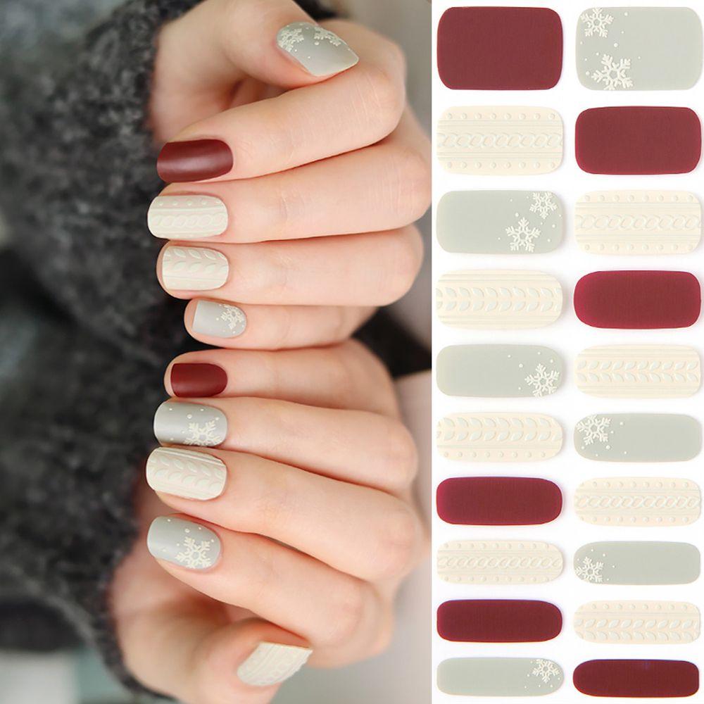 韓國 Glossy Blossom - 美甲貼-雪花浮雕-一張20貼+美甲貼磨甲棒