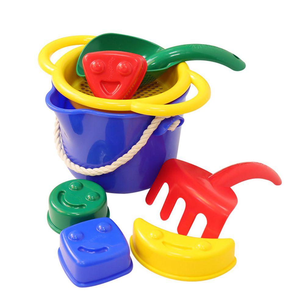 瑞典 Viking toys - 【新品】夏日沙灘玩沙工具7件組-快樂微笑