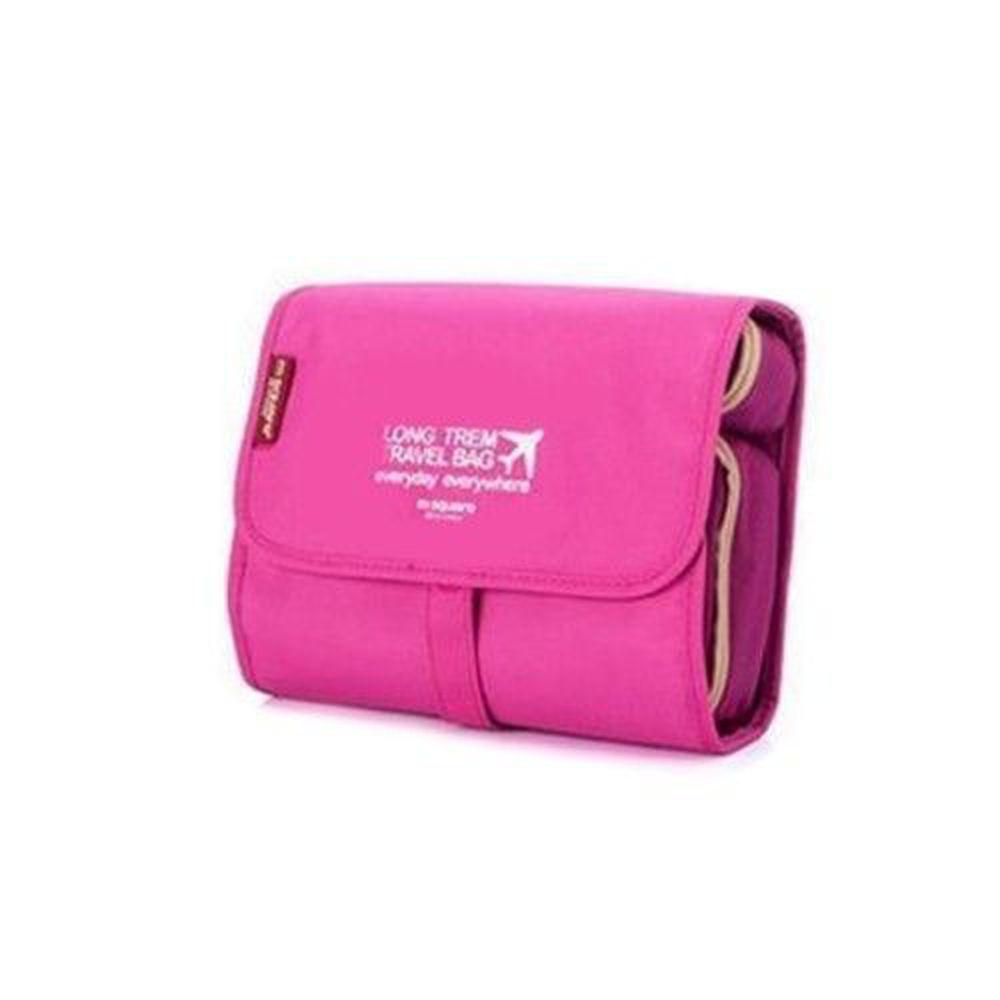 m square - 旅行收納化妝包 (大)-素色粉