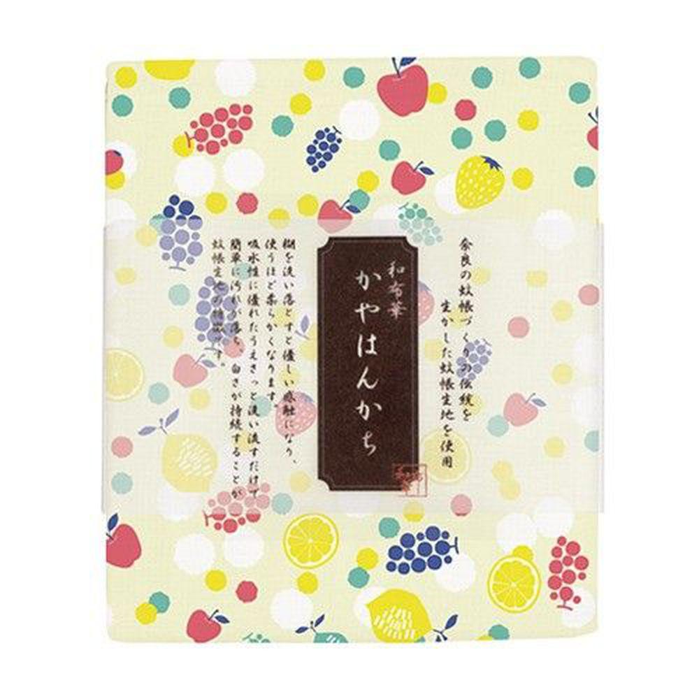 日本代購 - 【和布華】日本製奈良五重紗手帕-水果點點 (30x26cm)