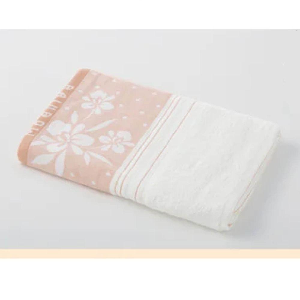 貝柔 Peilou - 高級純棉大浴巾-蘭花系列-粉黃 (70x145cm)