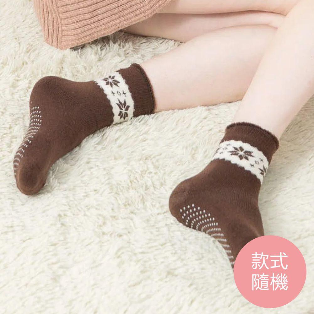 貝柔 Peilou - 裹起毛爆暖止滑毛襪-雪花(3雙組)-雪花-隨機色3雙 (22-26cm)