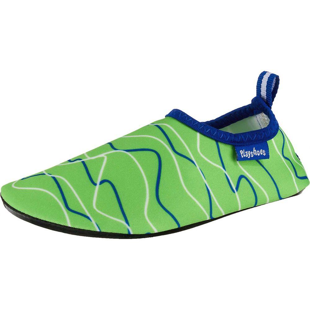 德國Playshoes - 抗UV水陸兩用沙灘懶人童鞋-海浪