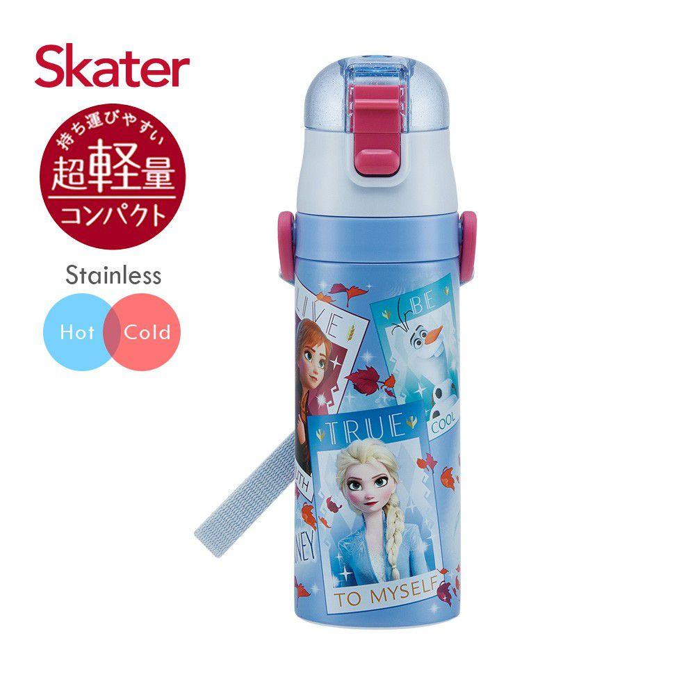 日本 SKATER - 兒童不鏽鋼直飲保溫水壺(470ml)-冰雪奇緣Movie