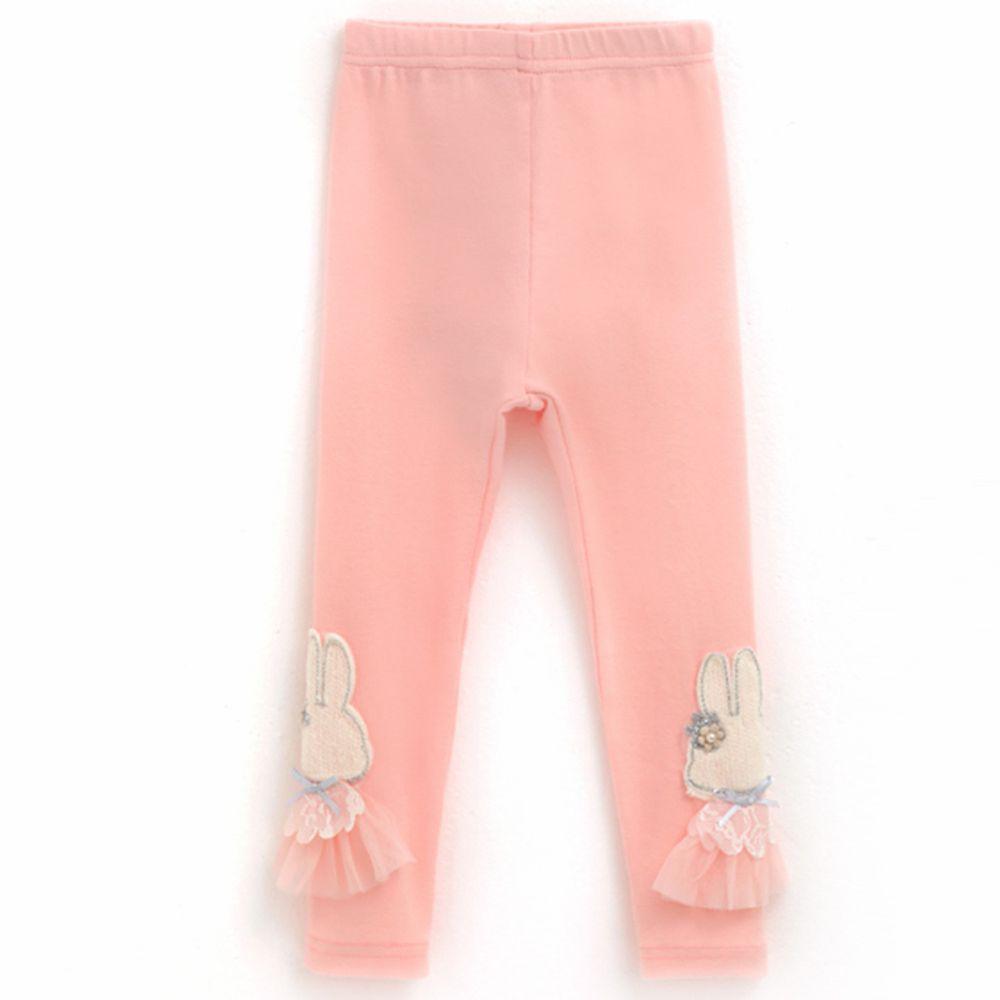 韓國 OZKIZ - 公主兔兔內搭褲-粉紅